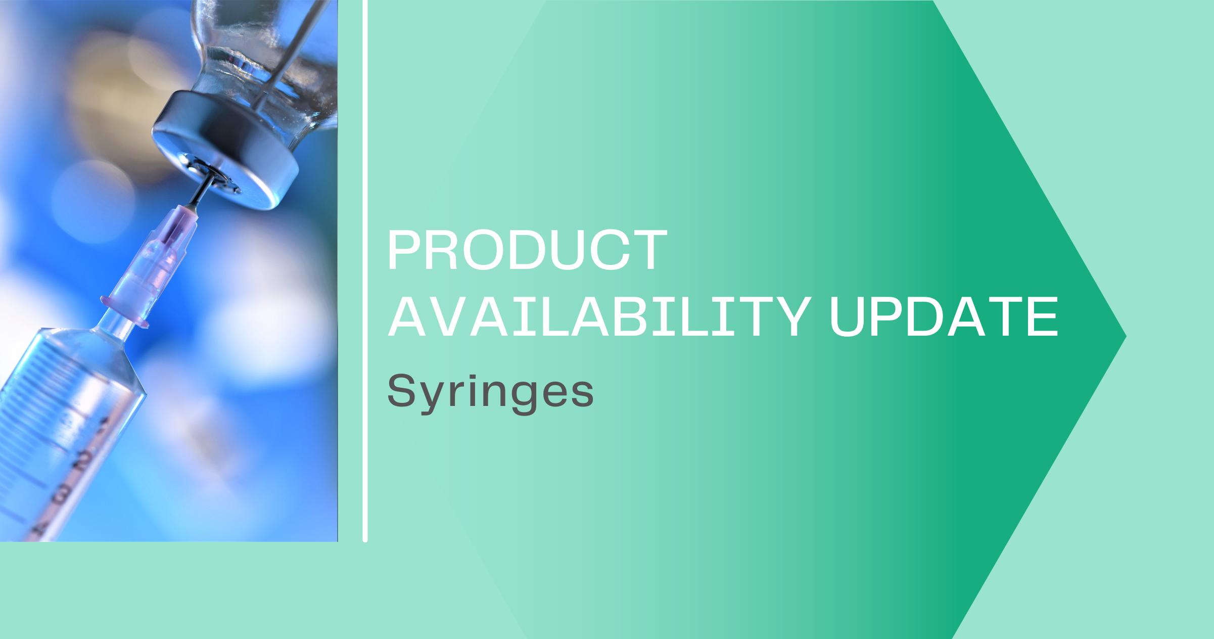 syringe shortage